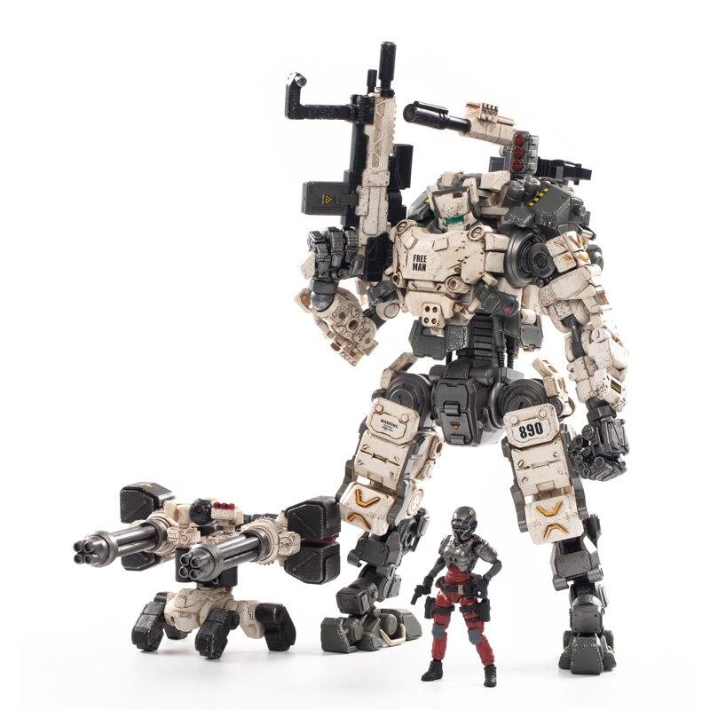1/25 JOYTOY Action Figure STEEL BONE ARMOR Mecha White Version and New Military Soldier Anime Model Toys Christmas Gift